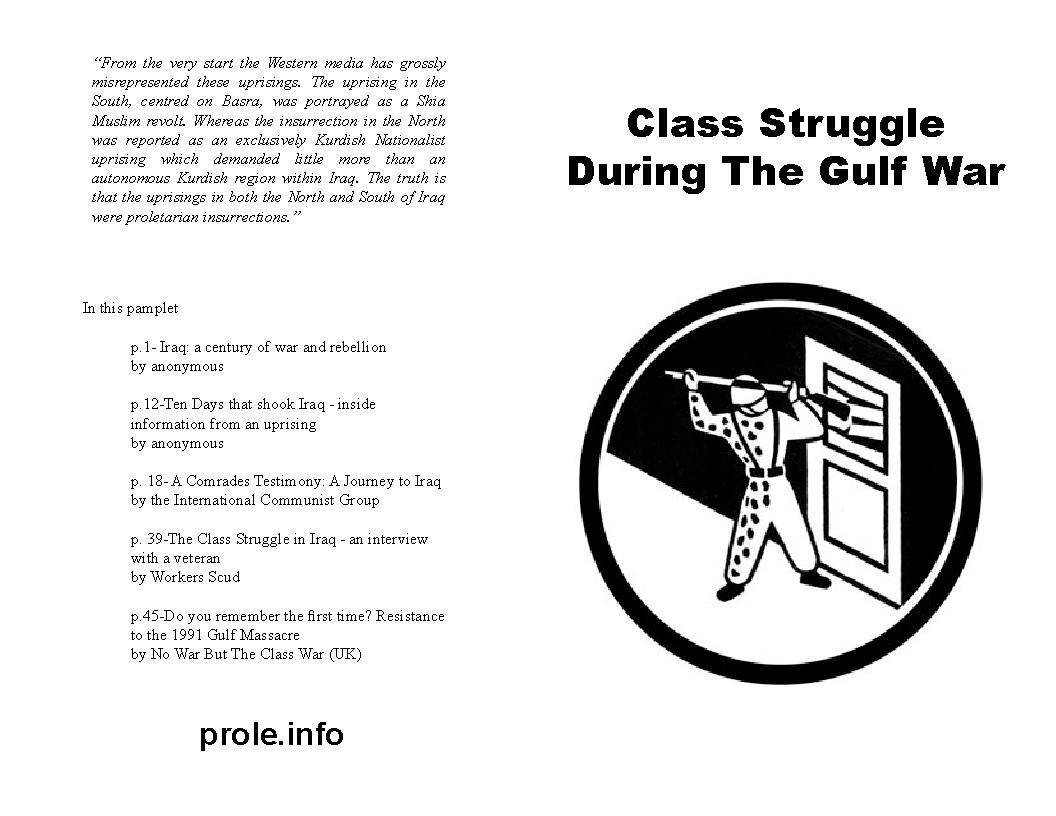 io anarchism class struggle during the gulf war